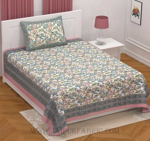 Fantastic Flowers Colorful Single Bedsheet