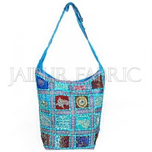 Zari Embroidered With Bead Work & Applique Sling Bag