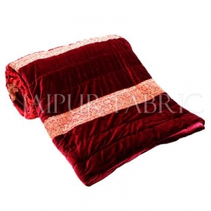 Red Velvet Double Bed Quilt