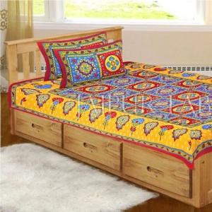 Maroon Royal Jaipuri Print Cotton Single Bed Sheet