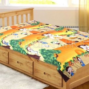 Multi Color Chota Bheem Printed Single Bed Dohar