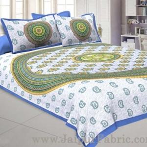 Paisley Blue Double Bedsheet