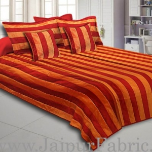 Yellow And Maroon Color Long Lining Silk festive Double Bed sheet