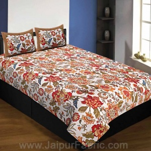 Pure Cotton 240 TC Single Bedsheet autumn jungle taxable
