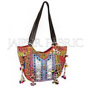 Antique Sikri Work With Pure Leather Hand Bag