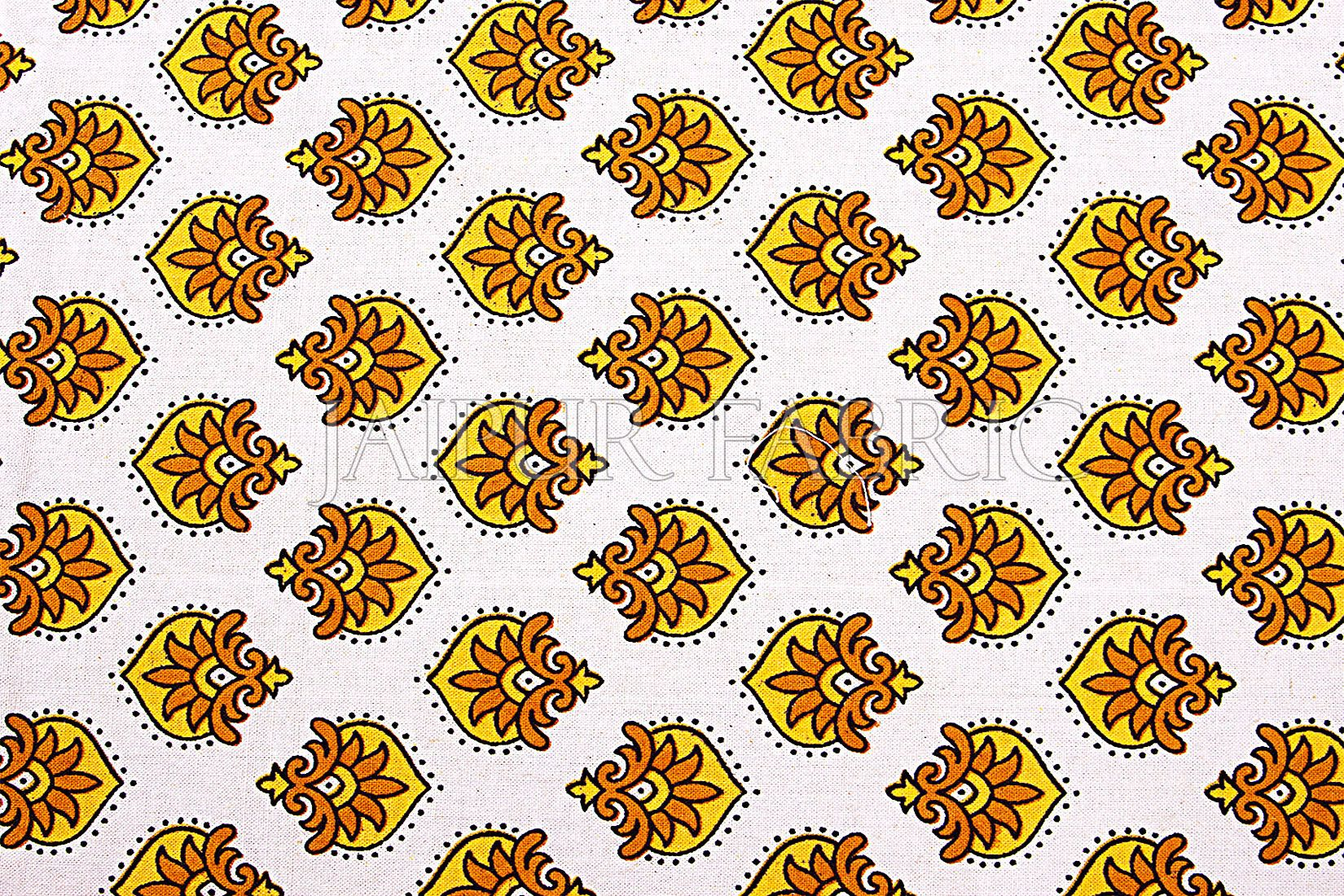 Yellow Tropical Print Cotton Double Bed Sheet
