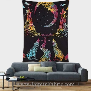 Moon tapestry wall hanging and beach throw