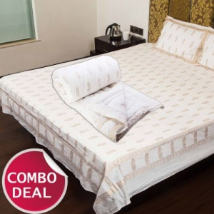 COMBO9 - Set of Double Bed Sheet and Double Bed Quilt