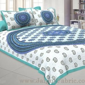 Paisley Sea Green Double Bedsheet