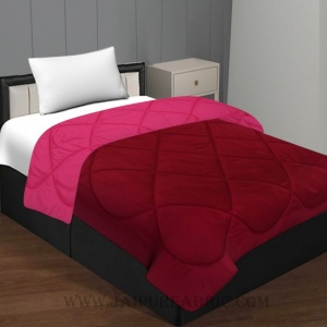 Maroon - Pink Single Bed Comforter