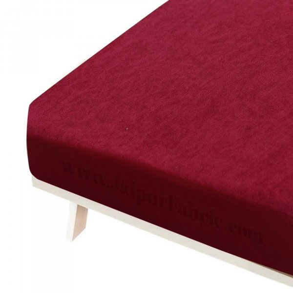 Heavy Quality Red Terry Cotton Waterproof and Elastic Fitted Through Out Double Mattress Protector