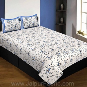 Pure Cotton 240 TC Single Bedsheet in reddish floral pattern taxable