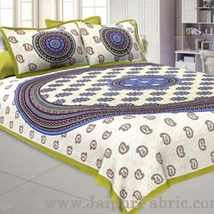 Paisley Green Double Bedsheet