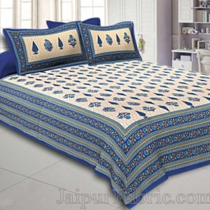 Double Bedsheet Beautiful Blue Pine Tree Print
