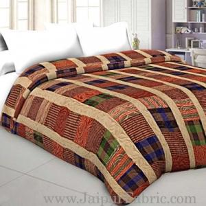 Ethnic Design Reversible Double Bed Ac Blanket / Dohar / Quilt ( Pack Of 1 )