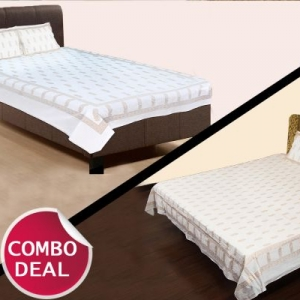 COMBO12 - Set Of Double Bed Sheet and Single Bed Sheet