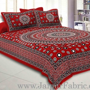 Double bedsheet Maroon Color  Rangoli Pattern Smooth Touch With 2 Pillow Cover