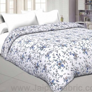 Muslin Cotton Double bed Reversible mulmul Dohar in floral print