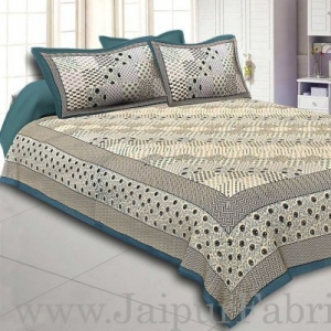 Wholesale  Maroon Border With Multi Checkered Pattern Fine Cotton Double Bedsheet With Two Pillow Cover