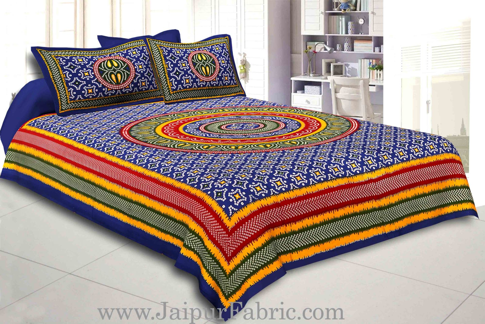 COMBO104  Beautiful Multicolor 4 Bedsheet + 8 Pillow Cover