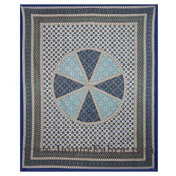 Sanganeri Double Bedsheet in Royal Blue shade