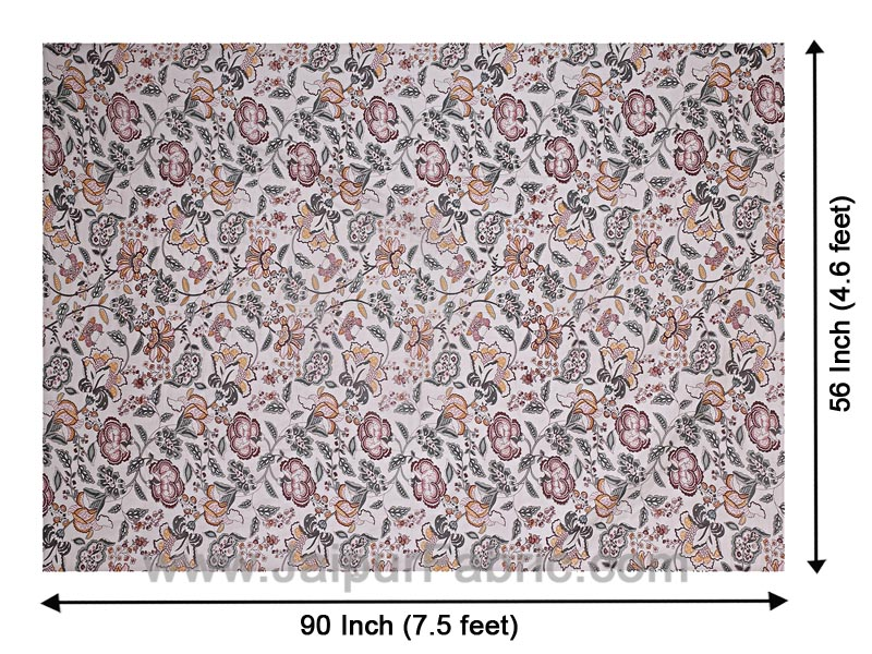 Cotton Single bed Reversible mulmul Dohar with pastel hand block print