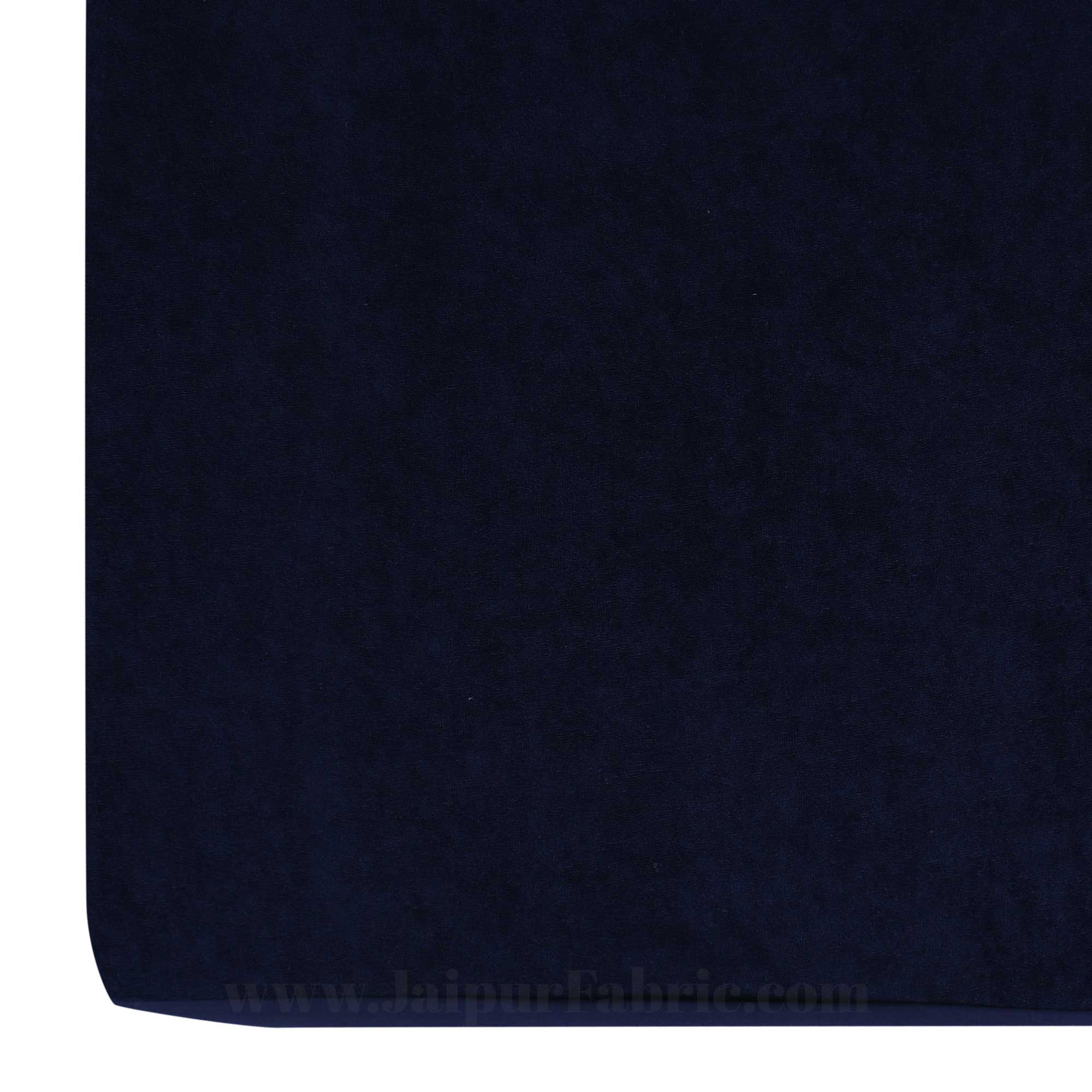 Heavy Quality Navy Blue Terry Cotton Waterproof and Elastic Fitted Through Out Double Mattress Protector