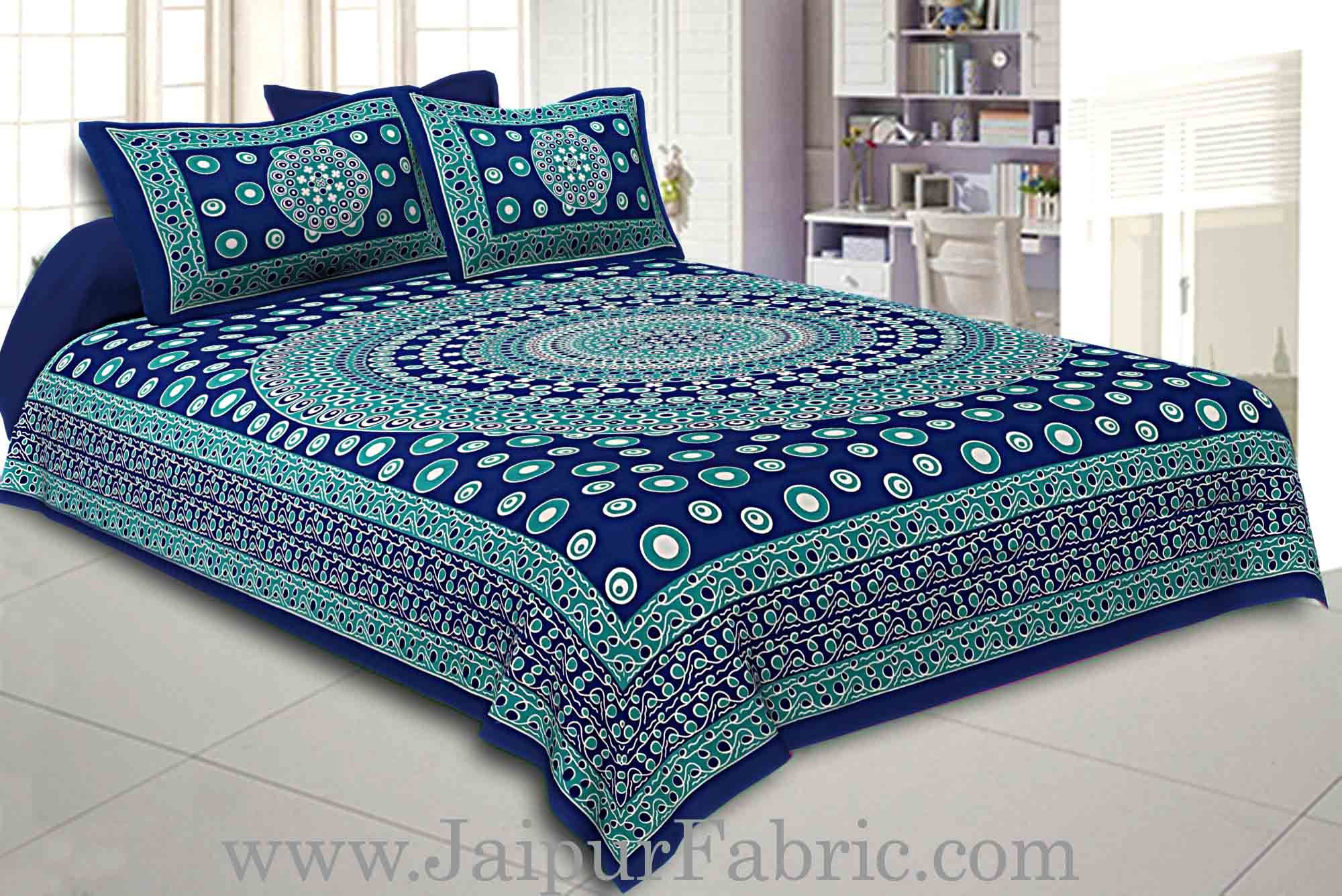 Double Bedsheet Maroon Color Rangoli Pattern Smooth Touch