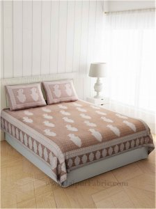 Peerless Paisley On Sandy Brown Bedsheet