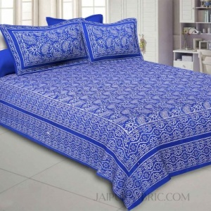 Aqua Kingdom Blue Double Bedsheet