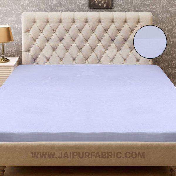 Heavy Quality White Terry Cotton Waterproof and Elastic Fitted Through Out Double Mattress Protector