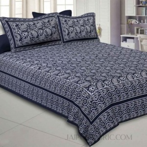 Aqua Kingdom Black Double Bedsheet