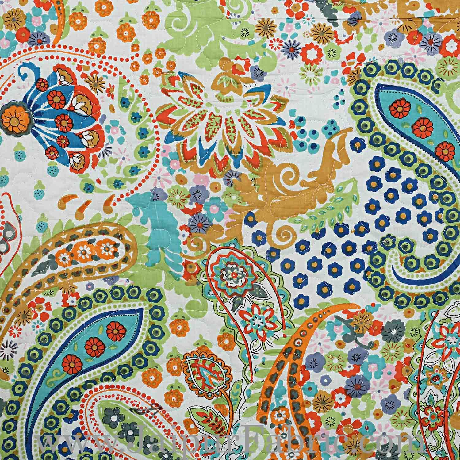 Comforter Printed Paisley Print Super Fine Cotton Multi Uses