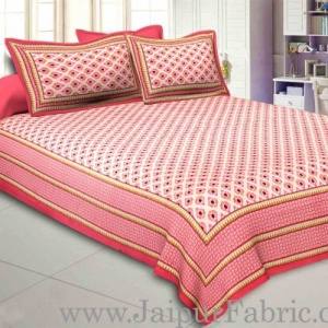 Rose Pink Feathers Double Bedsheet