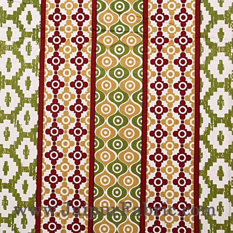Double Bedsheet Mustard Brown Border Rectangle Print