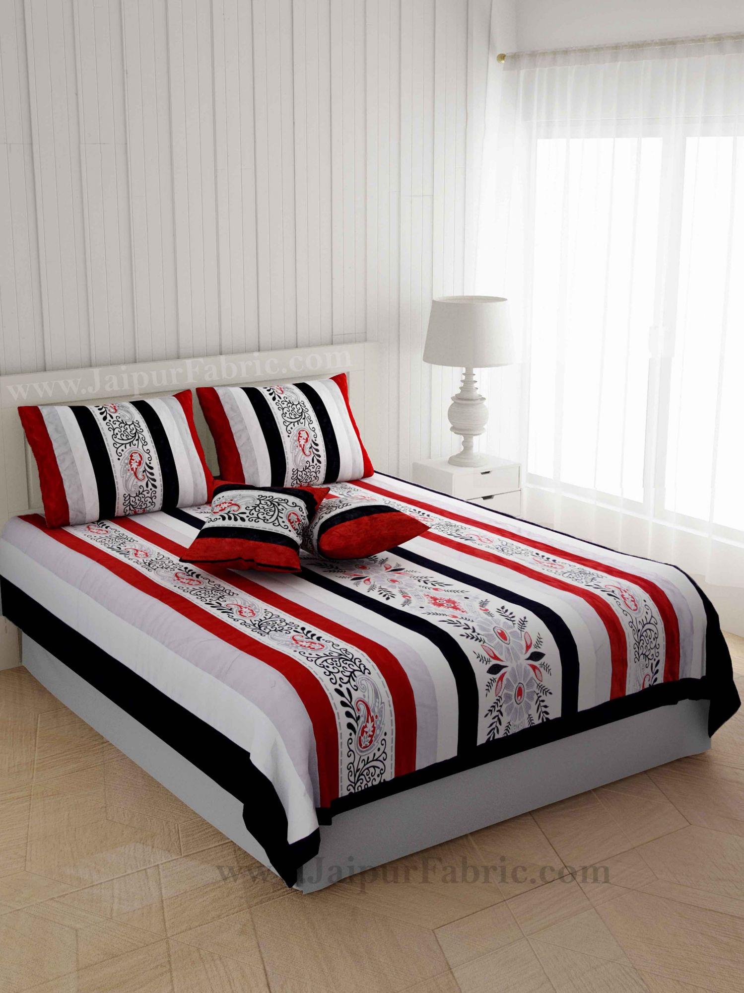 Traditional Thread-work Bale Silk Double Bed Cover