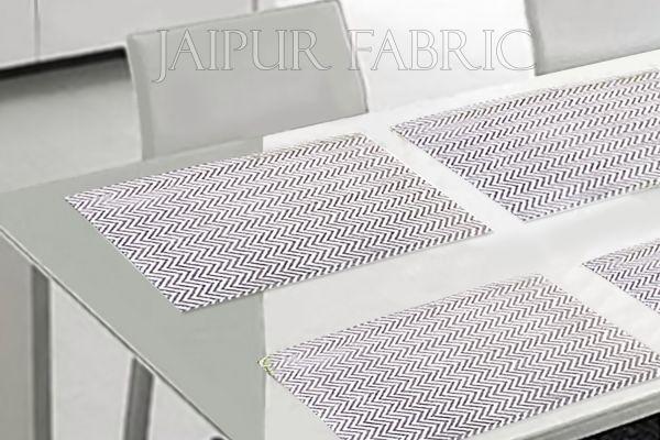 Gray Zigzag Table Mat