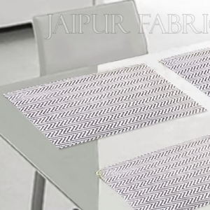Gray Zigzag Table Mat