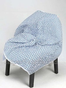 Baby Blanket Newborn Blue & Grey Soft Crib Comforter and Toddler Swaddling Blankets for Babies 120 x 120 cm Colourful White Base Baby Quilt