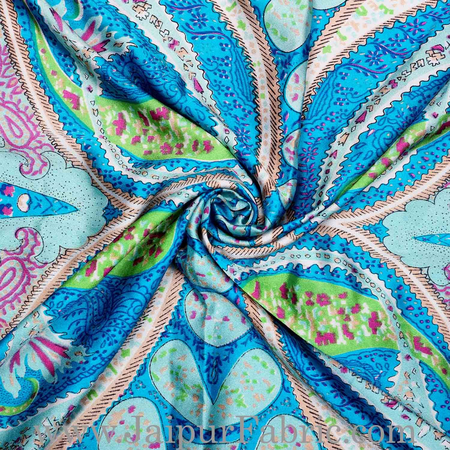 Silk Scarf Firozi Kerry Pattern