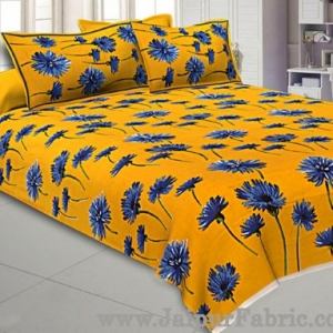 Sun Flower Double Bedsheet Yellow Color With 2 Pillow covers