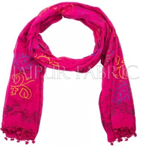 Magenta Printed Stole