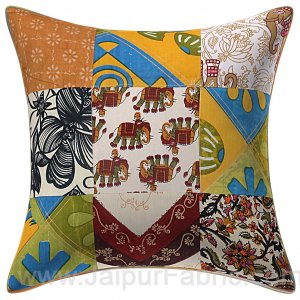 Colorful Patchwork Royal Cushion Cover