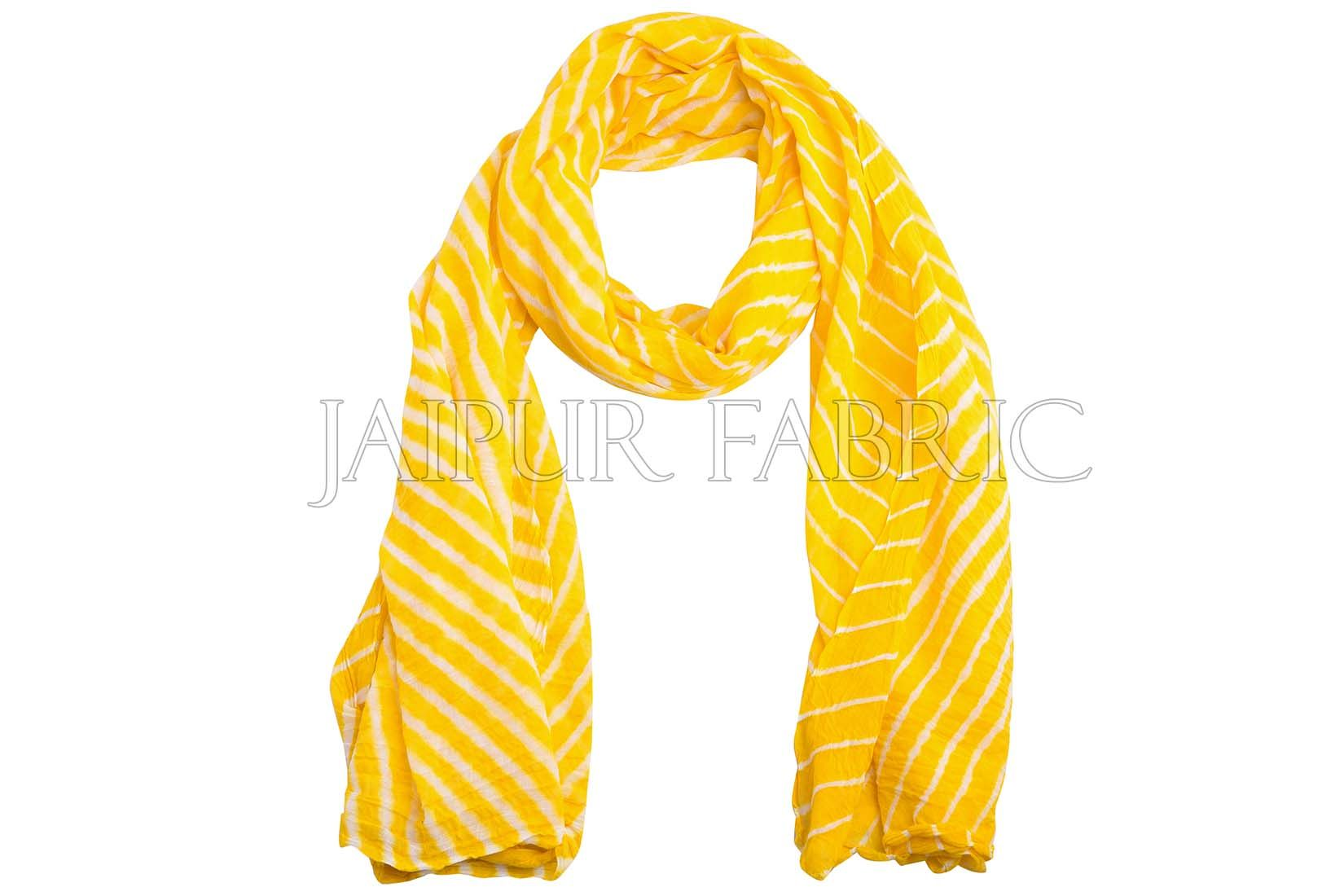 Yellow Lahariya Stole