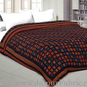 Cotton Double Quilt/Rajai Spangle Jaipuri Hand Crafted Dabu Print