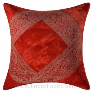 Dark Maroon Color Velvet Cushion Cover