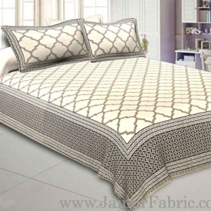 Double Bedsheet Jali Print With Two Pillow Cover