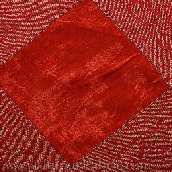 Dark Maroon Color Velvet Cushion Cover