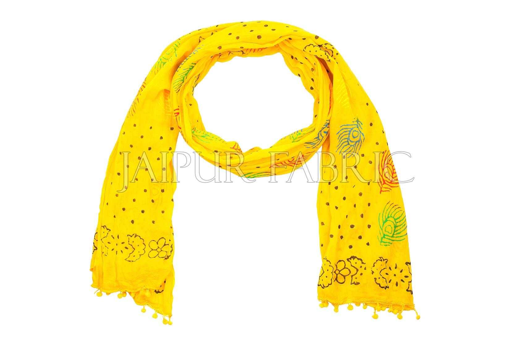 Yellow Printed Stole