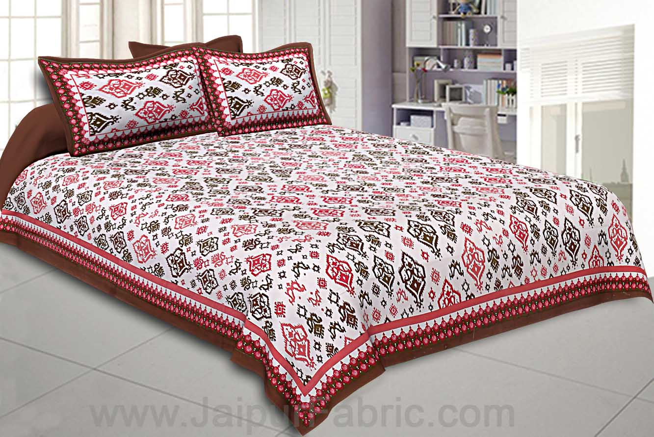 Double bedsheet Brick  Seamless Traditional Print